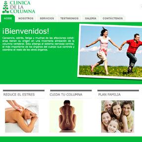 Clínica de la Columna Website