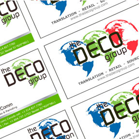 The Deco Group Business Cards