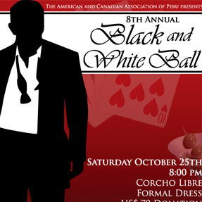 Casino Royal Black and White Ball Poster