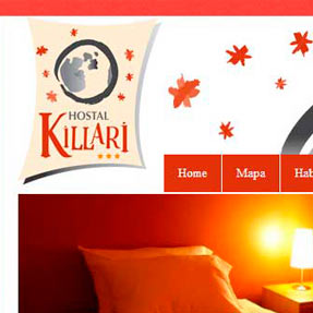 Killari Hostal website