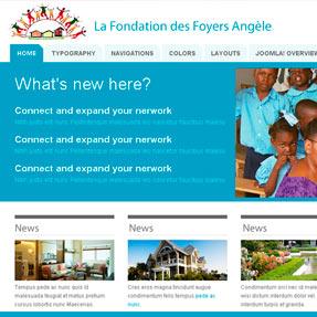 La Fondation des Foyers Angèle Website